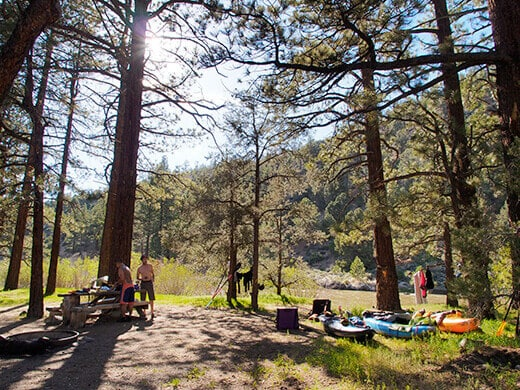 Setting up camp on the East Fork Carson