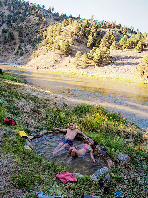 Hot spring on the Carson River