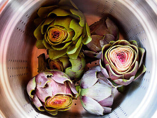 Steam artichokes for at least 20 minutes