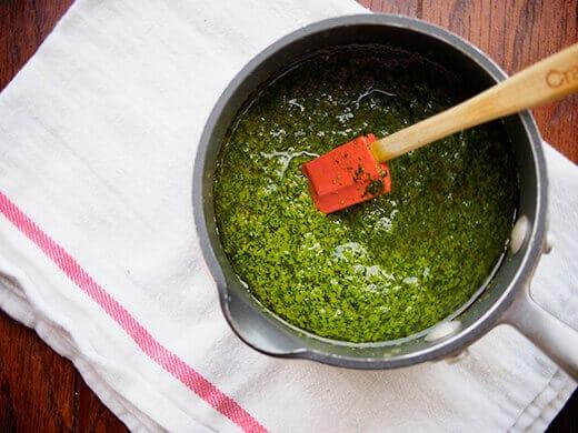 Pesto-butter sauce