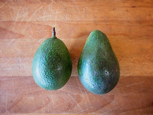 The last two avocados from my tree this season