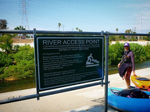 Los Angeles River access point near Rattlesnake Park