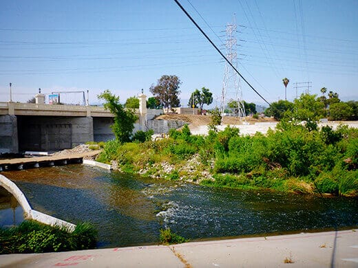 Put-in point on the LA River