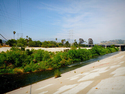 Glendale Narrows segment of the LA River