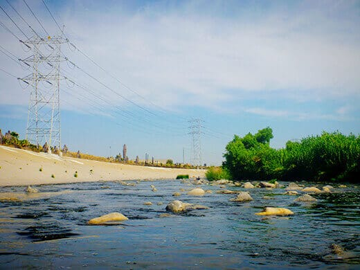 Rock garden on the Los Angeles River