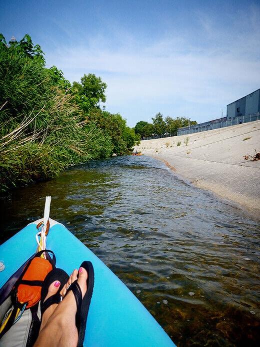 Narrow waterway