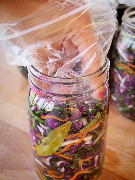 Line the jar with a zip-top bag
