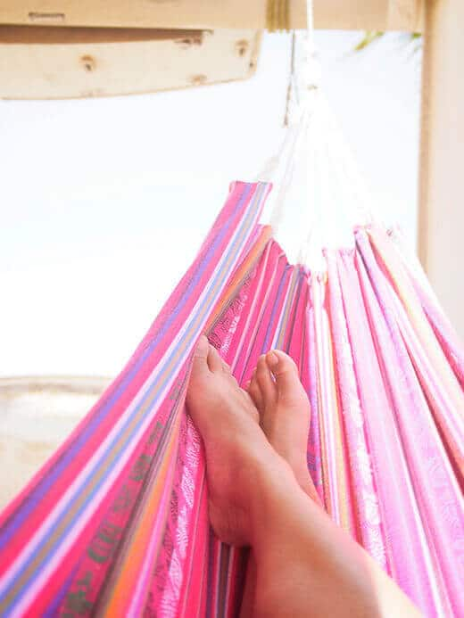 Spending a perfectly useless afternoon in a hammock
