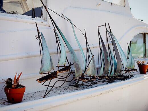 Ship sculpture
