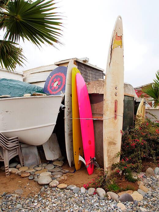 Surfboard rack in progress