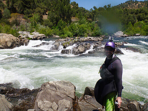 Class IV Troublemaker rapid on the American River