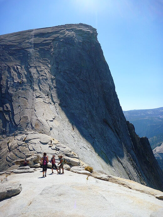 Approaching the Half Dome cables