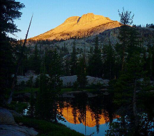 Raisin Lake in the Yosemite wilderness