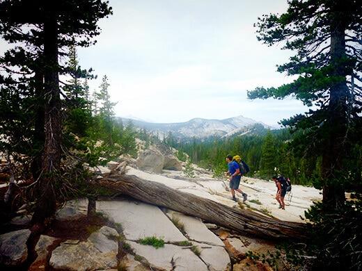 Cross-country hike from trailhead to Raisin Lake