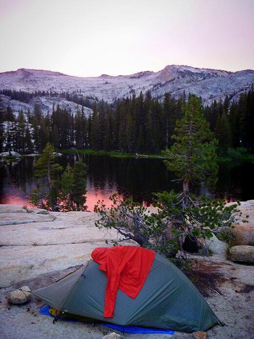 Sunset at Raisin Lake