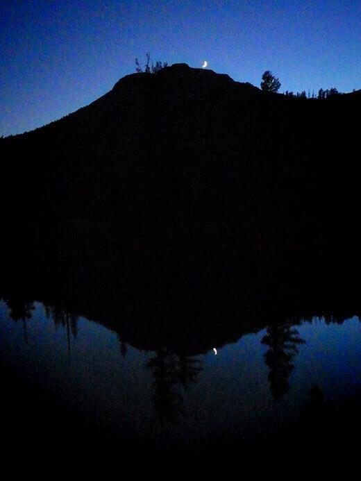 Moonrise over Raisin Lake