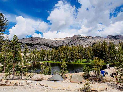 Our campsite at Raisin Lake