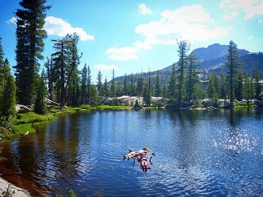 Floating in Raisin Lake
