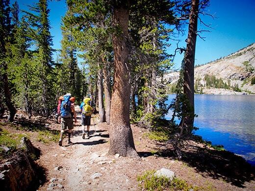 Hiking around May Lake