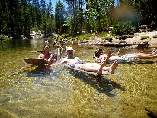 Floating in the Merced River
