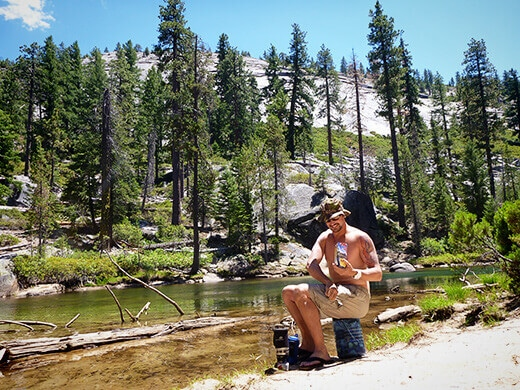 Lunch on the Merced River