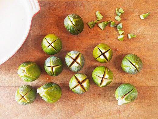 Make an X-cut in each fig