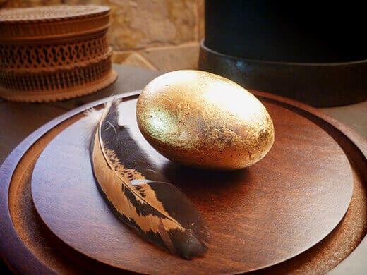 Gold-leaf egg