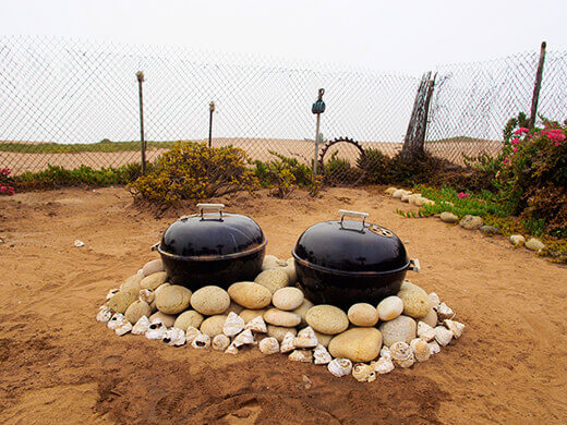 Baja-style fire pits