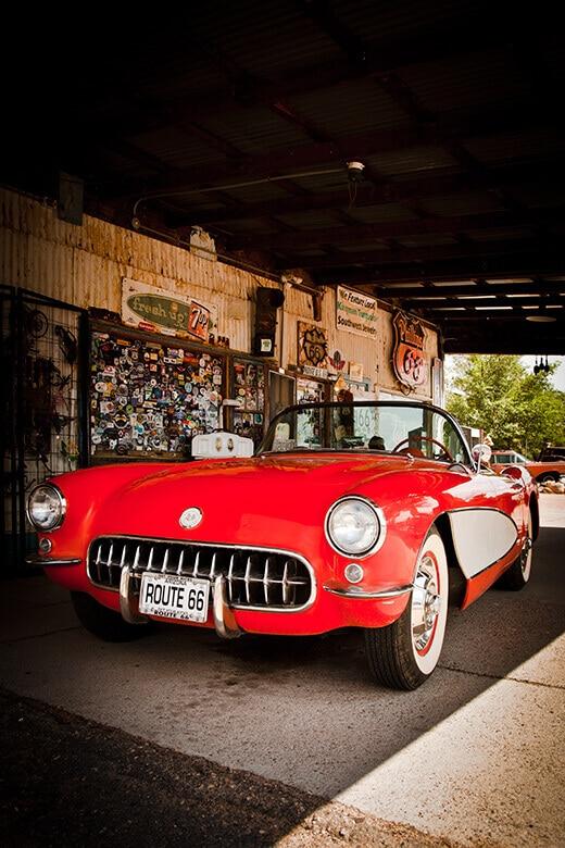 Cherry red Corvette