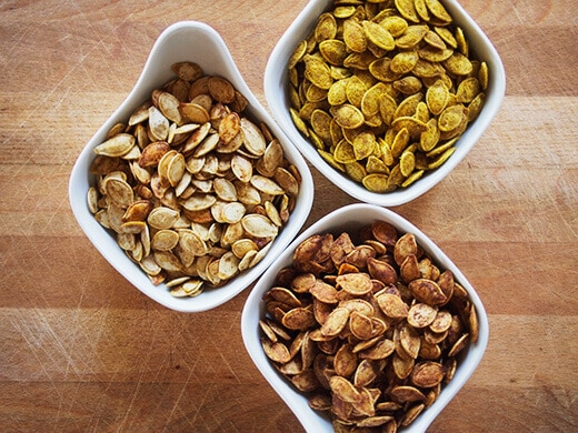 Three ways to toasted pumpkin seeds