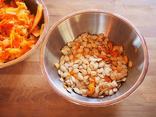 Remove as much pulp as possible from your seeds