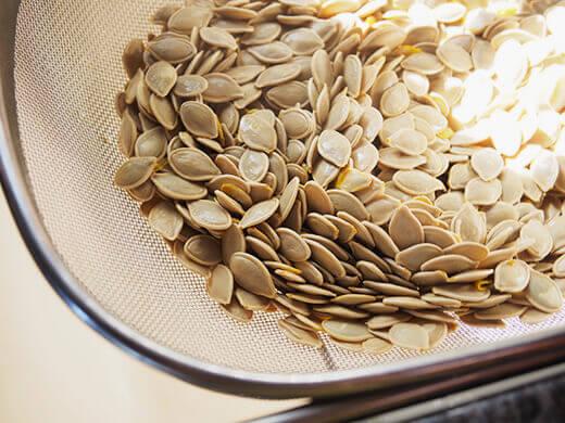 Strain seeds and shake dry