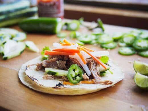 Vietnamese bánh mì taco