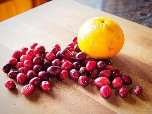 Orange and cranberries