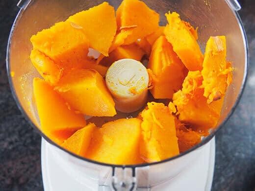 Puree pumpkin in food processor
