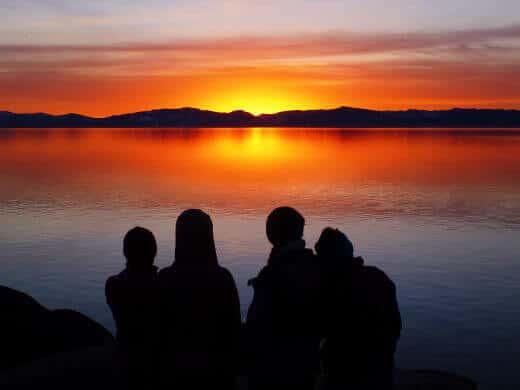 2014 sunset over Lake Tahoe