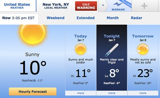 Polar vortex in New York