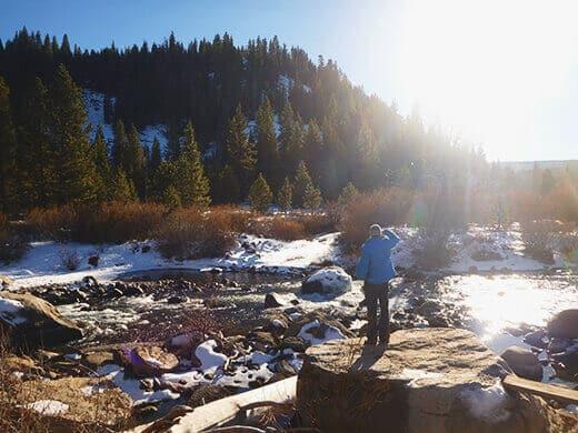 Summer in winter in Tahoe