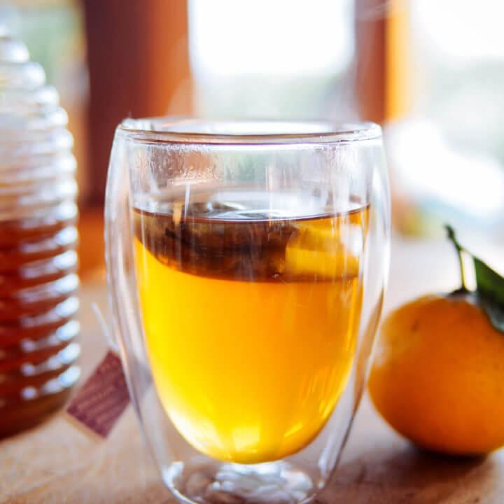 Mix bourbon, lemon, and hot chamomile tea to make a natural cough syrup