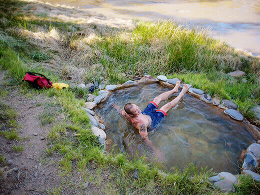 Primitive hot spring on the Carson River