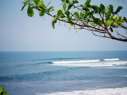 The waves in El Zonte, El Salvador