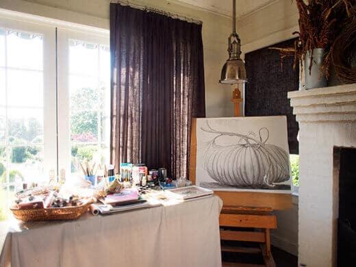Allen's art studio