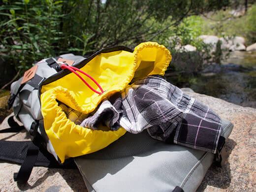 The Klettersack as a daypack