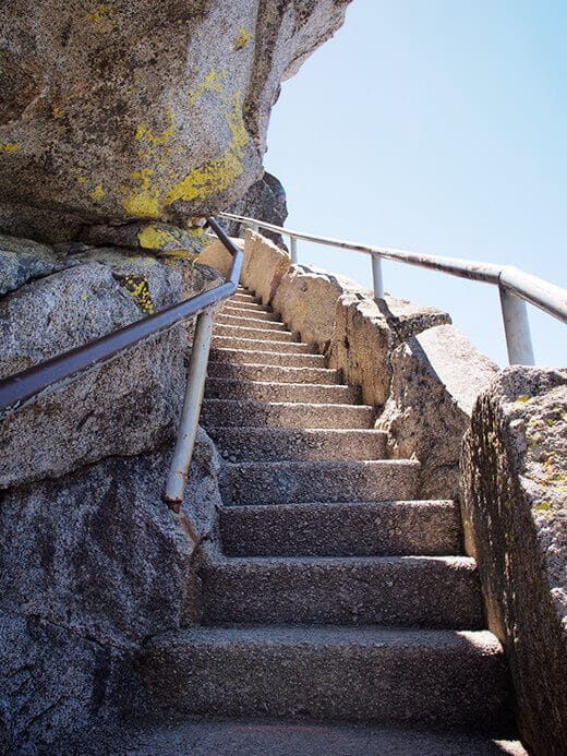 Staircase up Moro Rock