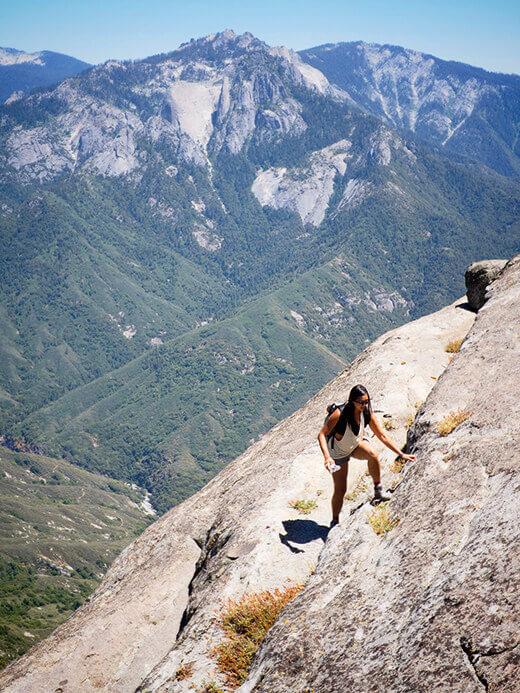 Hiking Moro Rock