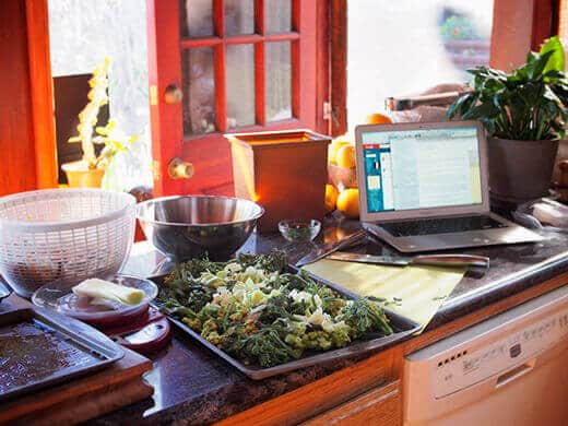 Cooking for a cookbook shoot