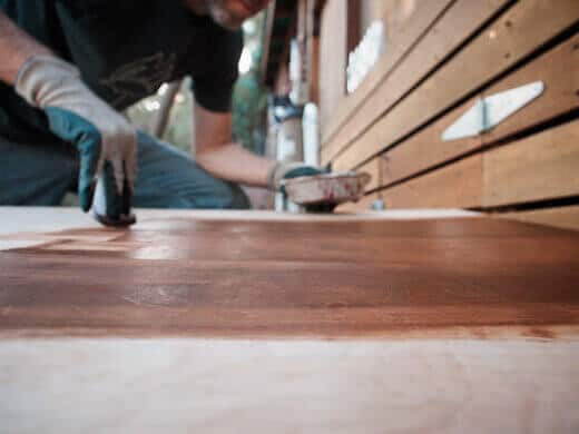 Staining a surface