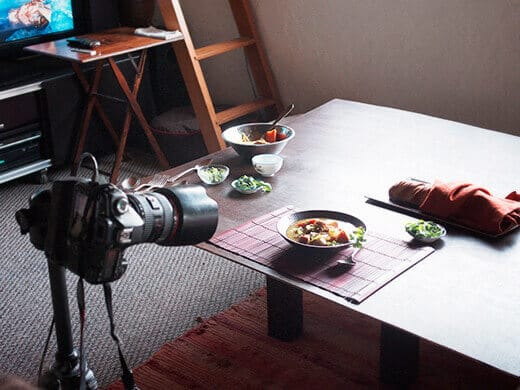 A very unglamorous set at home