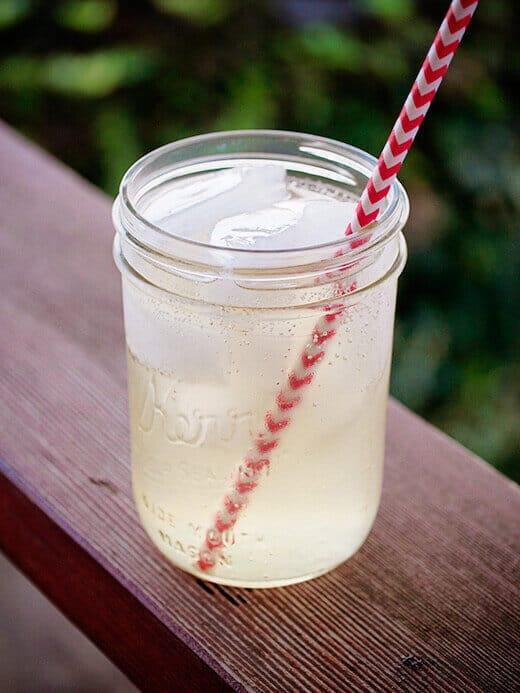 Fresh lemongrass-ginger ale
