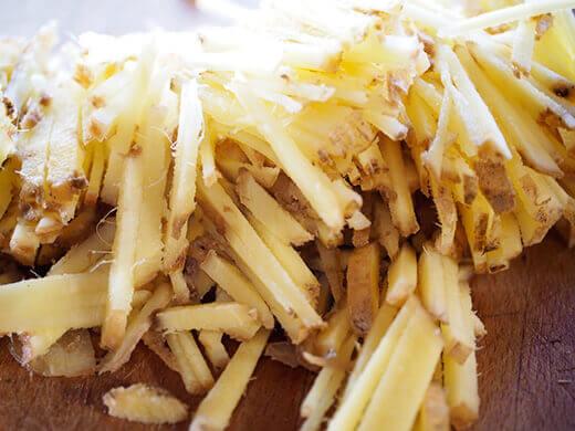 Sliced ginger